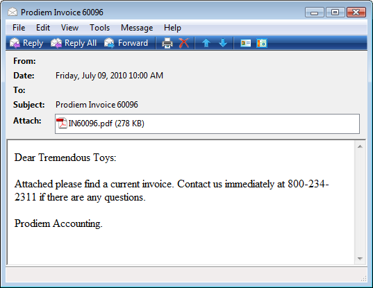 Receiving Invoice Emails With Attachments - Email invoice to customer