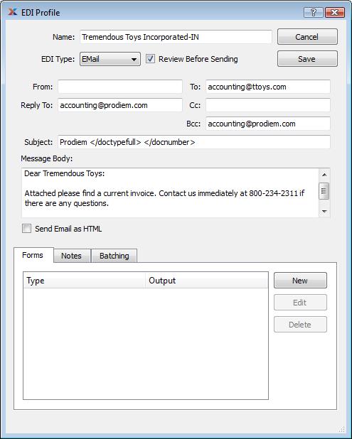 Create A Simple EDI Profile - Edi invoice