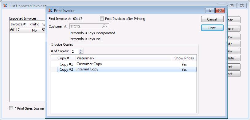 printing invoices - Invoice Printing